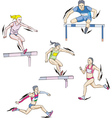 Athletics - run vector image