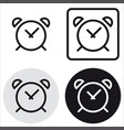 basic clock icon vector image vector image