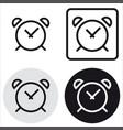 basic clock icon vector image