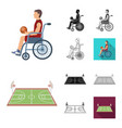 basketball and attributes cartoonblackflat vector image vector image