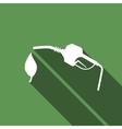 Bio fuel symbol icon with long shadow vector image