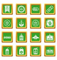 black friday icons set green vector image vector image