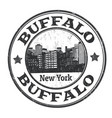 buffalo sign or stamp vector image vector image