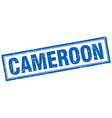 Cameroon blue square grunge stamp on white vector image vector image