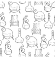 Chemistry lab pattern vector image