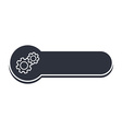 cog setting icon banner template vector image vector image