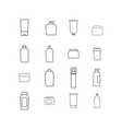 cream bottles icons vector image