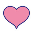 cute heart sign love decoration design vector image vector image