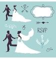 Elegant wedding couples in silhouette