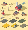 elements of the infographic of the agrarian vector image vector image