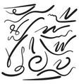 felt tip brush line vector image vector image