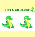 find differences education game for children vector image vector image