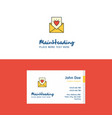 flat love letter logo and visiting card template vector image vector image