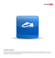 football boot icon - 3d blue button vector image