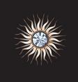 golden sun jewelry with gemstone vector image vector image