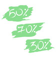 great sale tags with discount on the stickers vector image