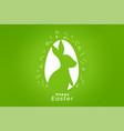 green happy easter festival celebration card vector image vector image