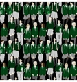 Group of students - seamless pattern vector image vector image