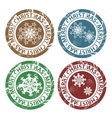 Grunge Merry Christmas stamps vector image vector image