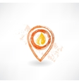 guide mark fire grunge icon vector image vector image