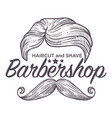 haircut and shave barbershop service for men vector image