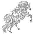 hand drawn horse for antistress coloring page vector image vector image