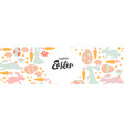 happy easter banner trendy easter design with vector image