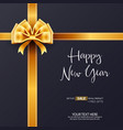 happy new year gift sale background template vector image vector image