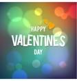 Happy Valentine s Day Bokeh Rainbow vector image vector image