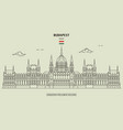 hungarian parliament building in budapest vector image