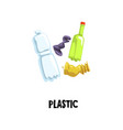 information icon about plastic waste empty tube vector image