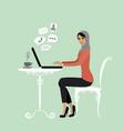Muslim office worker or arabic business woman