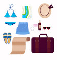 on the theme of travel vacation vector image vector image