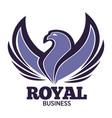 phoenix bird or fantasy eagle logo template vector image vector image