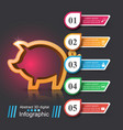 pig money - business infographic vector image vector image