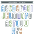 Poster light elegant font with outline vector image vector image