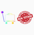 rainbow colored dot baggage cart icon and vector image vector image