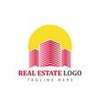 real estate logotype template construction logo vector image vector image