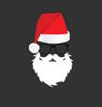 santa claus head color design vector image vector image