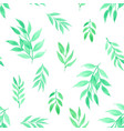 seamless pattern with leaves watercolor vector image vector image