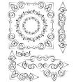 set of vintage elements for design vector image vector image