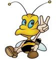 Sitting Honeybee vector image vector image