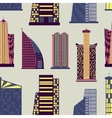 Skyscrapers set pattern vector image