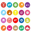 Sport game athletic flat icons on white background vector image