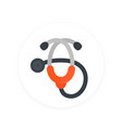 stethoscope icon flat style vector image vector image