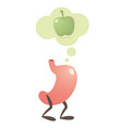 stomach thinking of fruits vector image vector image