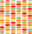 Stylish vintage background from colored circles vector image vector image