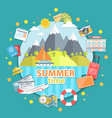 summer time flat vector image