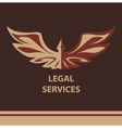 Template logo for legal notary vector image vector image