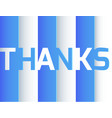 thank you origami paper layer art blue and white vector image